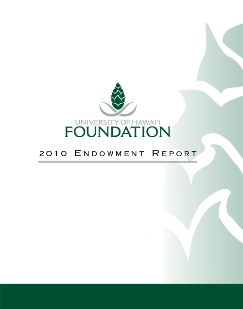 Endowment Report 2010 Cover