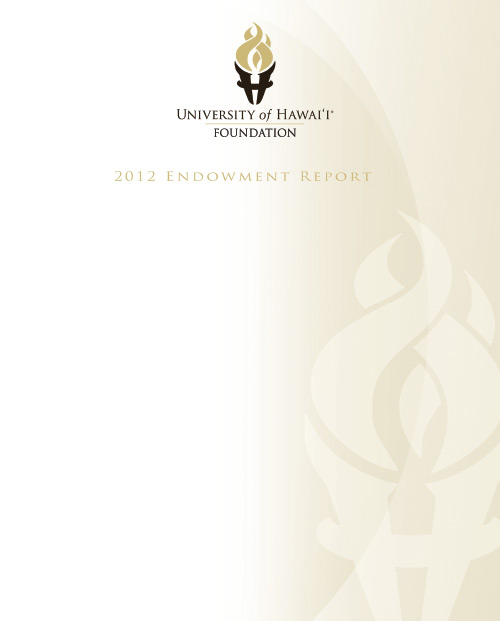 Endowment Report 2012 Cover