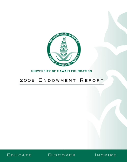 2008 Endowment Report Cover
