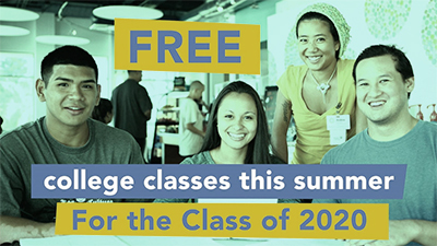 Free summer classes for the class of 2020