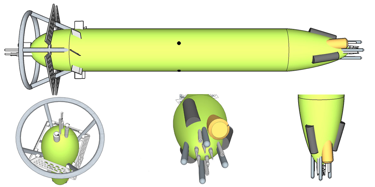 Concept drawing of the Hadal Water Column Profiler