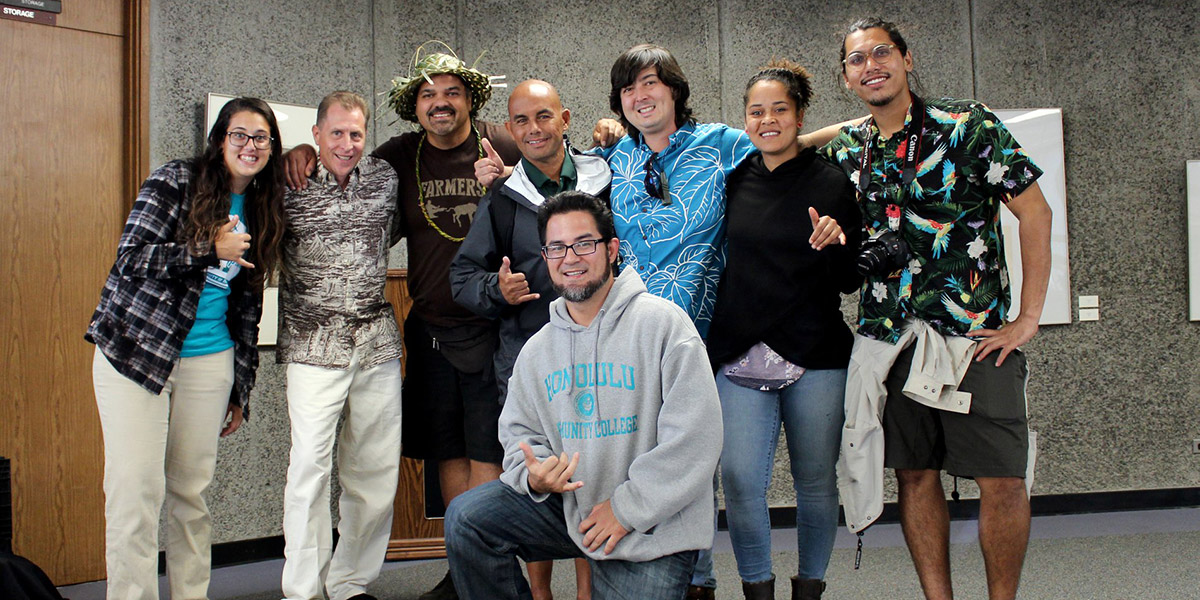 "Honolulu CC delegation whose ""Hahai nō ka Ua i ka Ululāʻau – Rain Always Follows the Forests"" project"