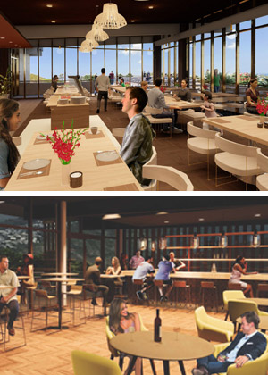 CIP renderings of restaurant and bar