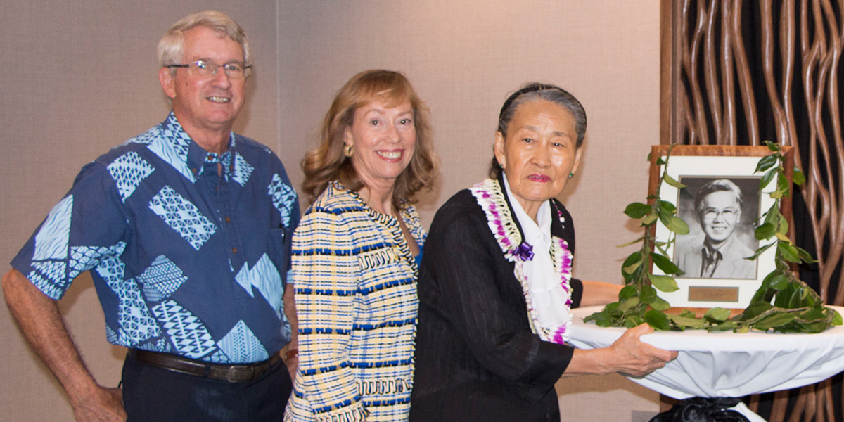 L-R: Edward Shultz, Shirley Daniel and Kay Chung