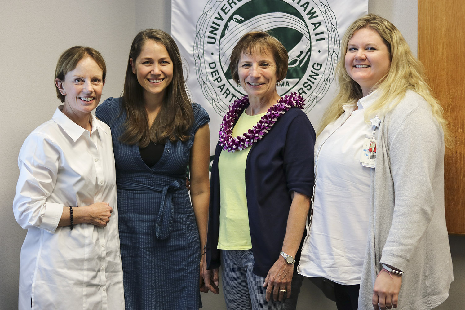 Maureen Shannon, PhD, FNP, CNM, FAAN, FACNM, UHM Nursing Graduate Chair; Natalie Anderson, RN, APRN, Future of Nursing Scholar; Susan Hassmiller, PhD, RN, FAAN, co-director of the Future of Nursing Scholars program; Emily Heenan, MS, RN, Future of Nursing Scholar