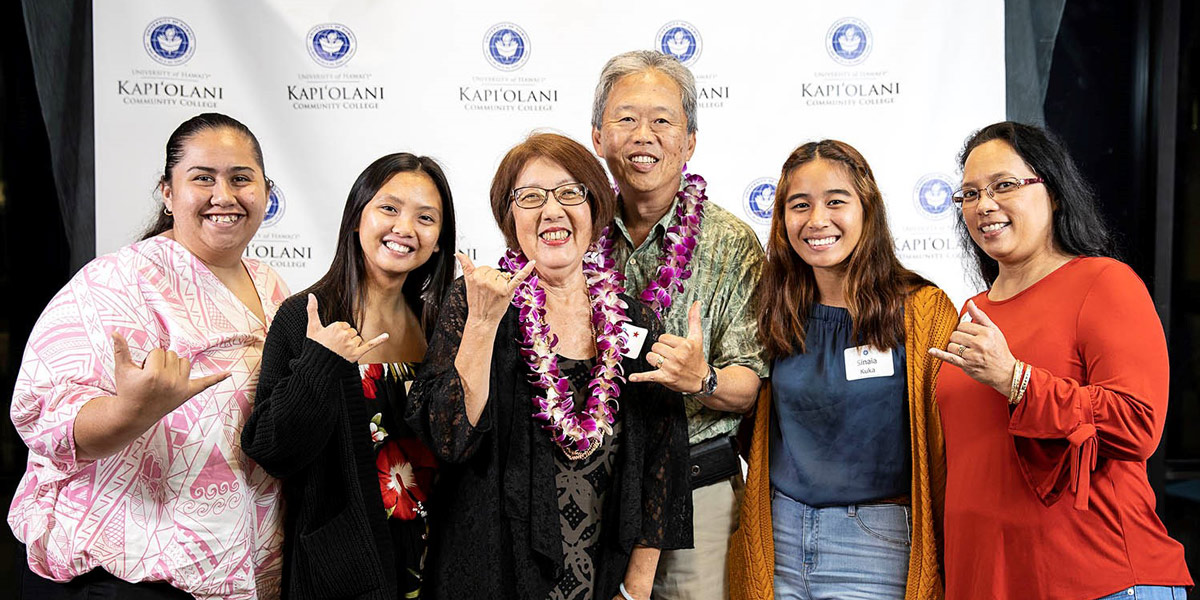 Donors enjoyed meeting their scholarship recipients at the 2020 Kapi'olani CC Scholarship Dinner