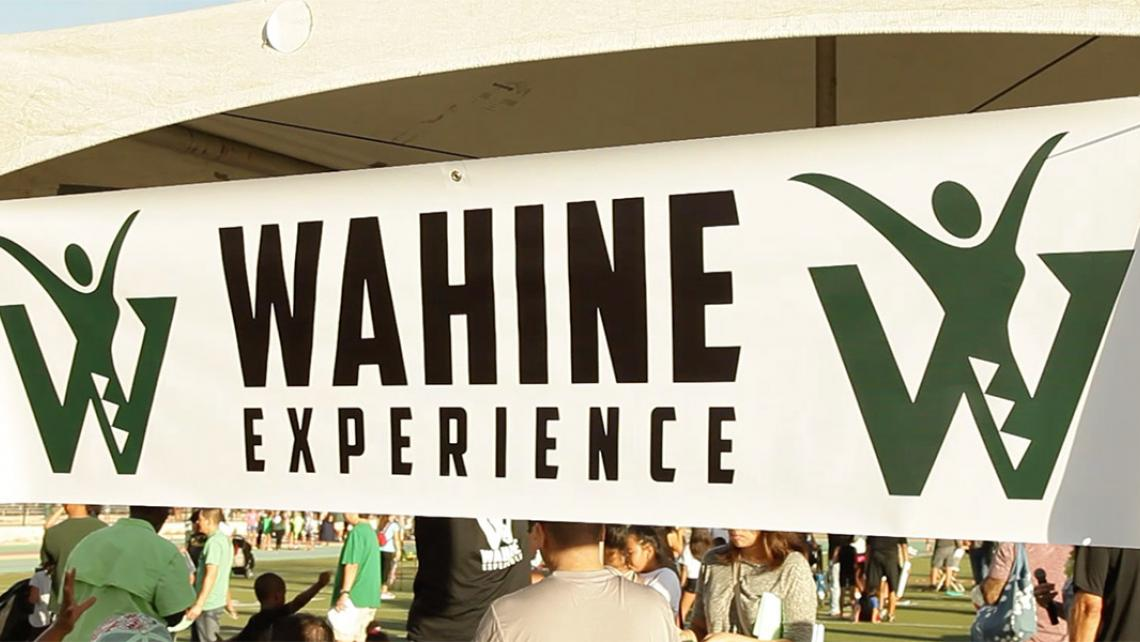 Image of event banner that says Wahine Experience