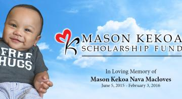 Honor Mason's Memory, Help Students in Need