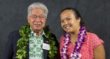 U.S Senator Daniel K. Akaka and Rebekah Loving