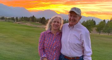 Debra and Arlen Prentice at an event in Montana