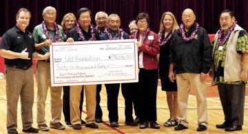 Matsuda endowment recognized at halftime