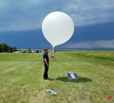 The storm balloon release at the Jonathan Merage Foundation Research Ranch in Colorado.