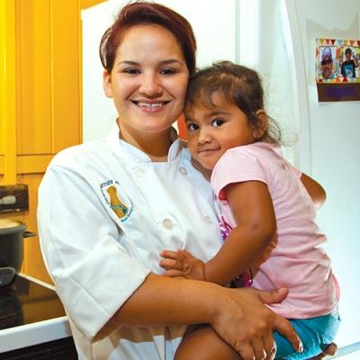 Selina Lutao and daughter Oshyyn