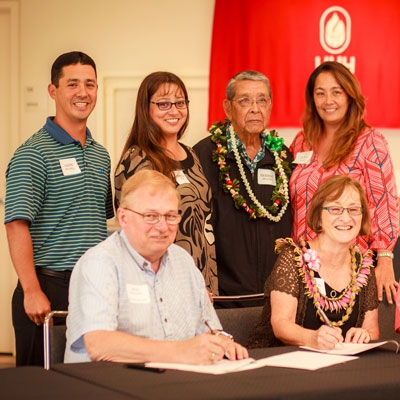The Segawa Family and UHH Chancellor Don Straney