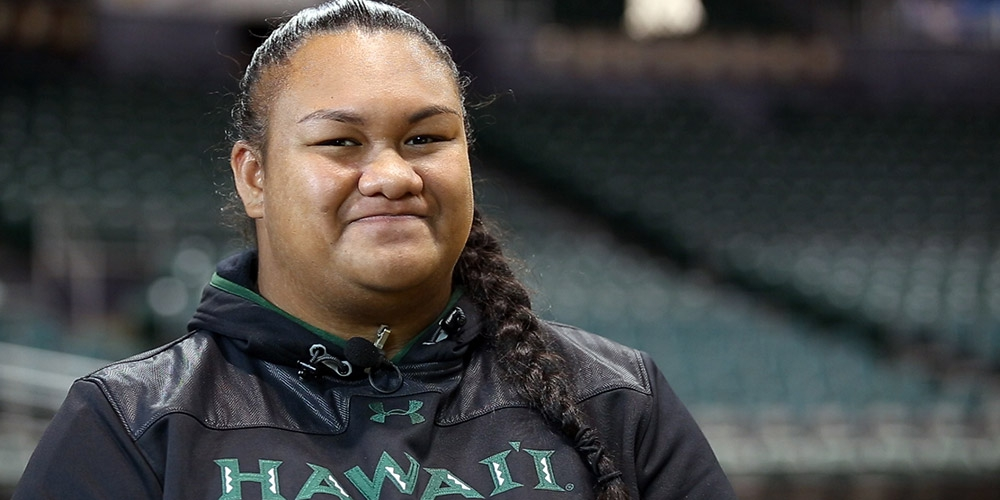 Charlinda Ioane, recipient of the Central Pacific Bank Scholarship