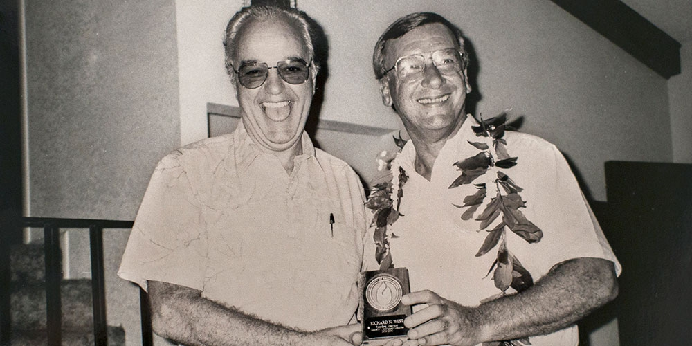 Dr. Edward Kormondy and Richard West