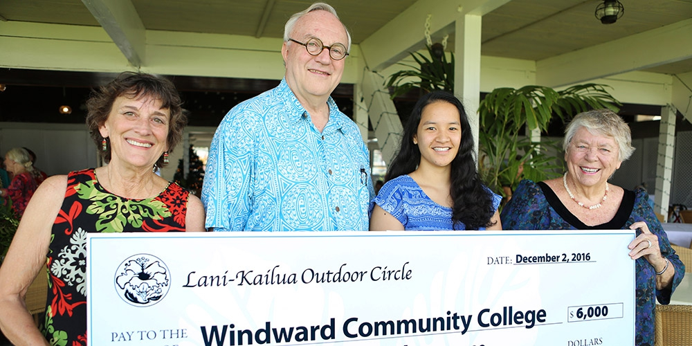 Lani-Kailua Outdoor Circle presents $6,000 Scholarship for Environmental Studies at Windward CC