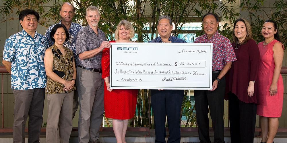 SSFM International gives $260K