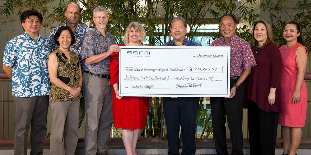 SSFM International gives $260K